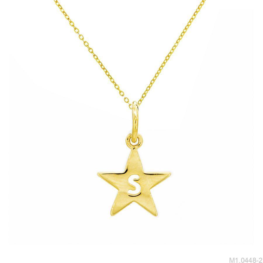 Mặt Dây Nữ Vàng 18K Đính Đá CZ - M1.0448-2