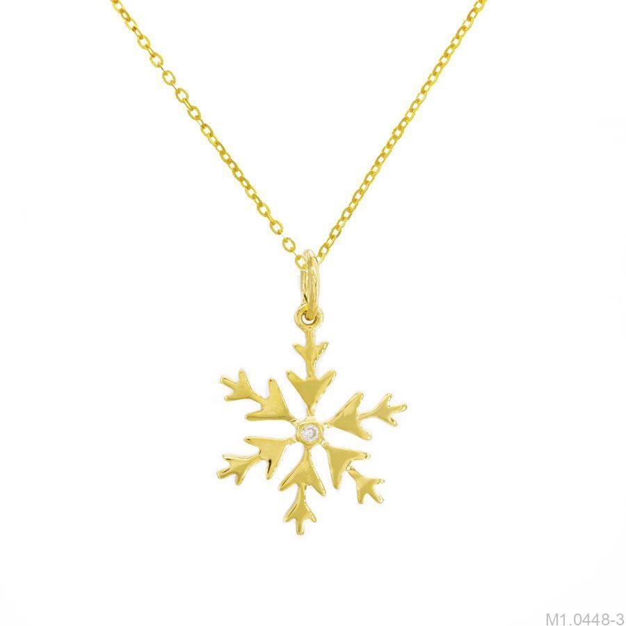Mặt Dây Nữ Vàng 18K Đính Đá CZ - M1.0448-3