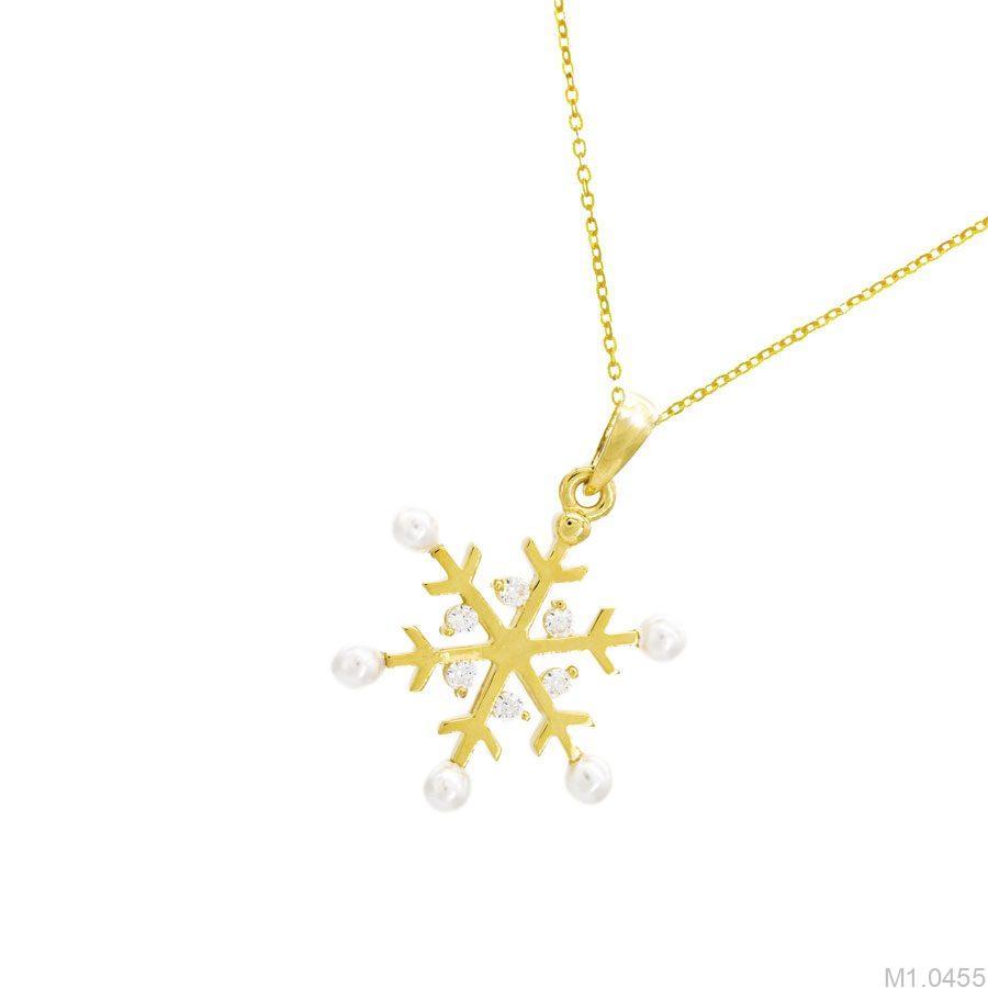 M1.0455-1 Mặt dây chuyền vàng 18k bông tuyết giáng sinh APJ