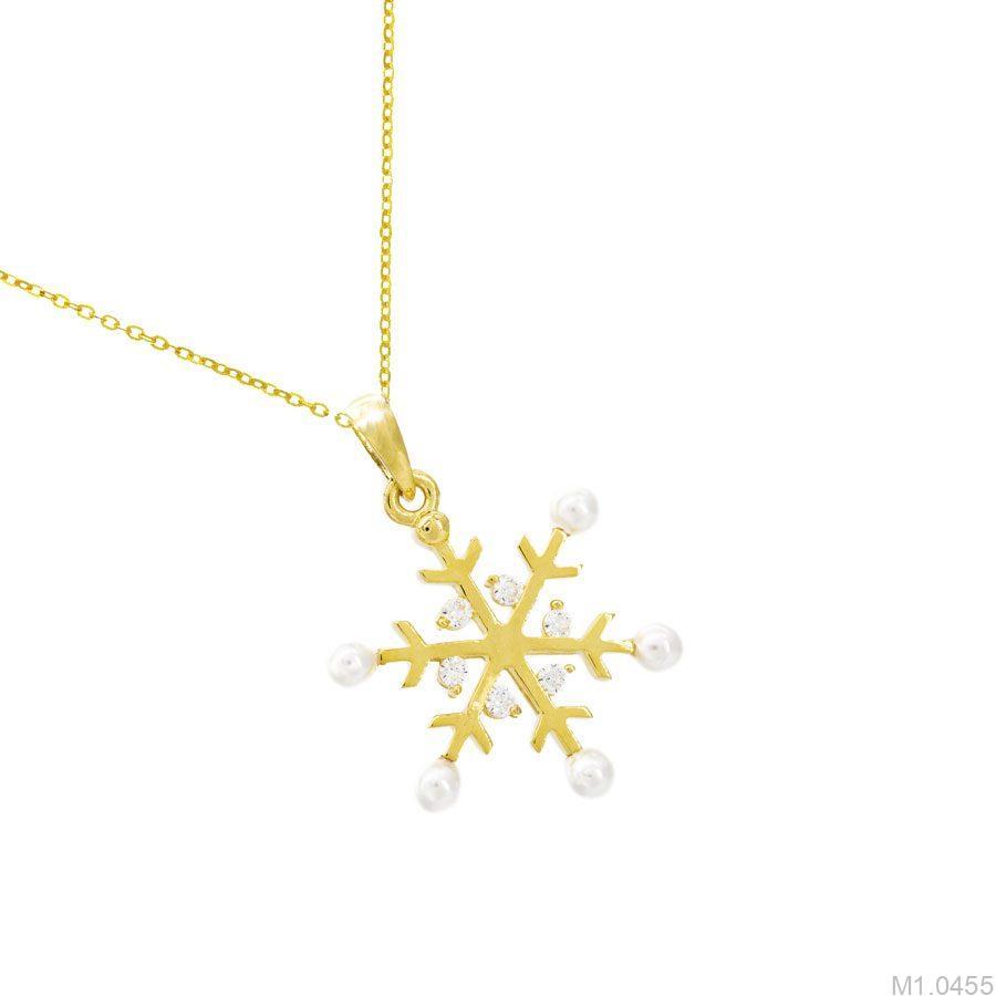 M1.0455-2 Mặt dây chuyền vàng 18k bông tuyết giáng sinh APJ
