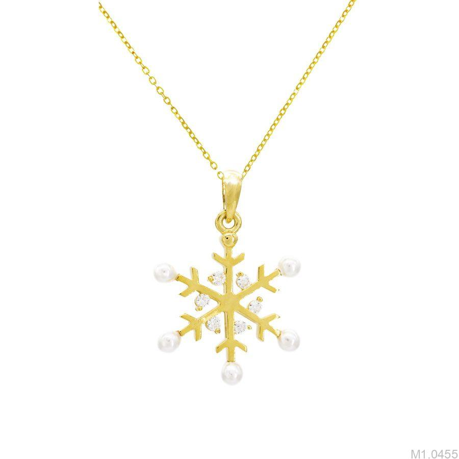 Mặt Dây Nữ Vàng 18K Đính Đá CZ - M1.0455