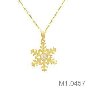 Mặt Dây Nữ Vàng 18K Đính Đá CZ - M1.0457