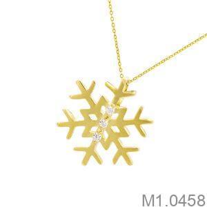 Mặt Dây Nữ Vàng 18K Đính Đá CZ - M1.0458