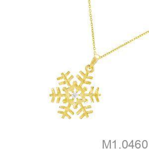 Mặt Dây Nữ Vàng 18K Đính Đá CZ - M1.0460