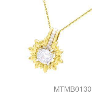 Mặt Dây Chuyền Vàng 10K Đính Đá CZ - MTMB0130