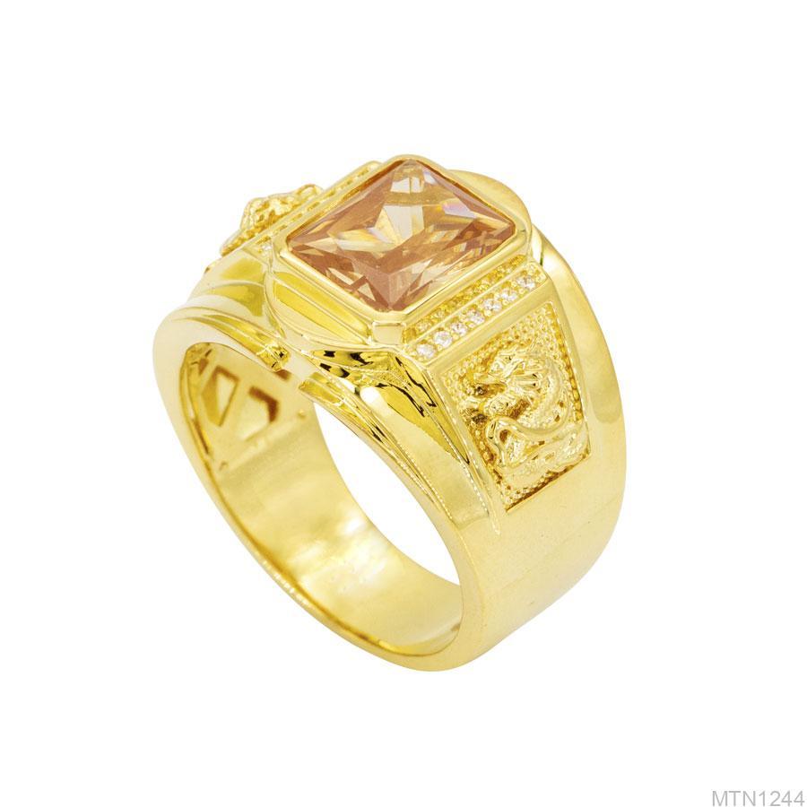 Nhẫn Nam Vàng 18k 3 chỉ APJ MTN1244-1