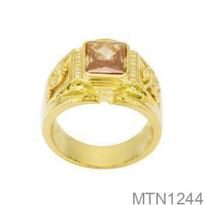 Nhẫn Nam Rồng Vàng Vàng 18K Đá Vàng - MTN1244