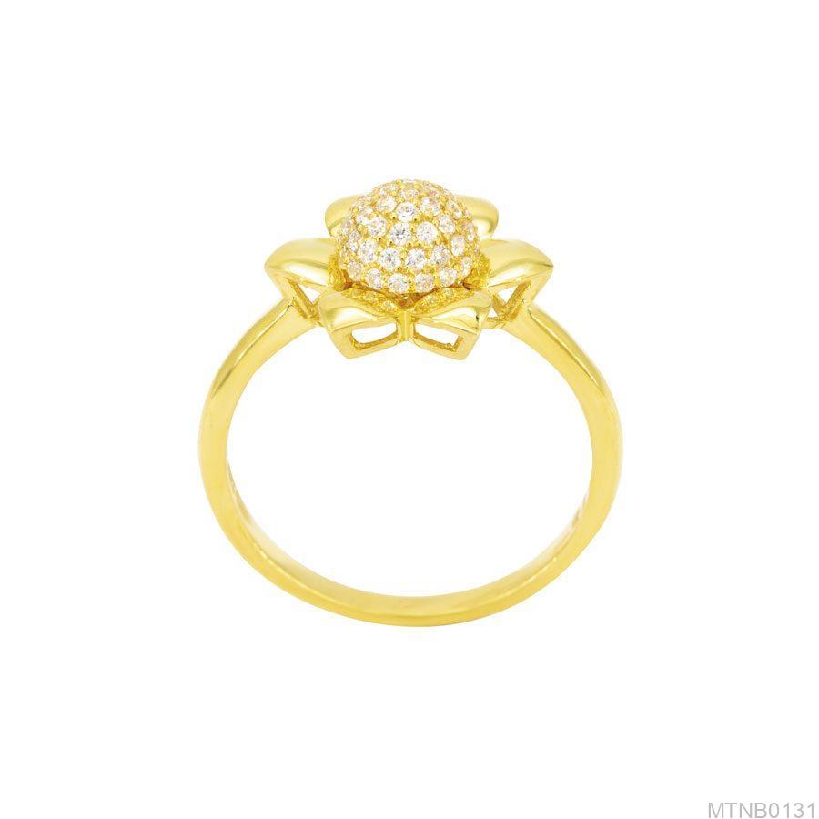 Nhẫn Nữ Vàng 10K Đính Đá CZ - MTNB0131