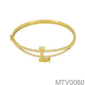 Vòng Tay Vàng 18K Đính Đá CZ - MTV0060