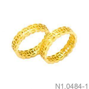 Nhẫn Cưới Vàng Vàng 18k - N1.0484-1