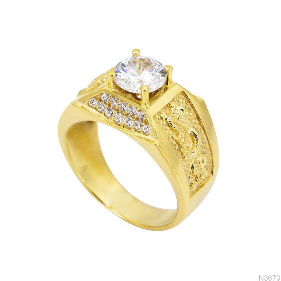 N3670-1 Nhẫn vàng nam 10k APJ
