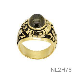 Nhẫn Mỹ Vàng Vàng 18K Đá Xanh Lục - NL2H76