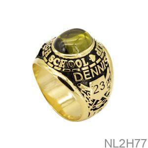 Nhẫn Mỹ Vàng Vàng 18K Đá Xanh Lục – NL2H77