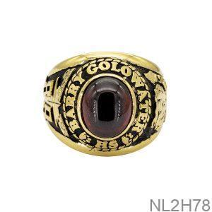 Nhẫn Mỹ Vàng Vàng 18K Đá Đỏ - NL2H78