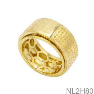 Nhẫn Nam Vàng 18k APJ Bát Nhã Tâm Kinh NL2H80-1