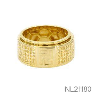 Nhẫn Nam Vàng 18k APJ Bát Nhã Tâm Kinh NL2H80-2