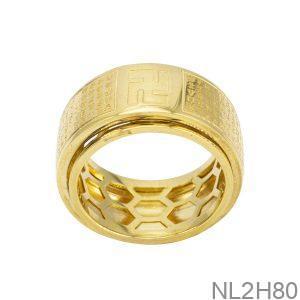 Nhẫn Nam Vàng 18k APJ Bát Nhã Tâm Kinh NL2H80