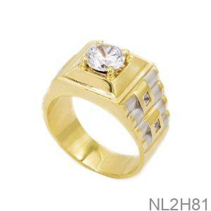 Nhẫn Nam Vàng 18k Đá CZ APJ NL2H81-1