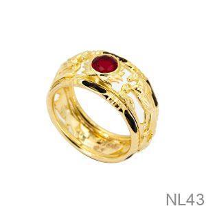 NL43-1 Nhẫn nam lông voi kim mã vàng 18k APJ