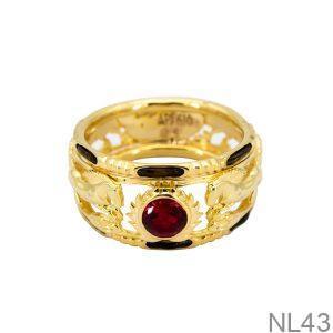 NL43-2 Nhẫn nam lông voi kim mã vàng 18k APJ