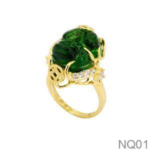 NQ01-1 Nhẫn tỳ hưu nữ vàng 18k