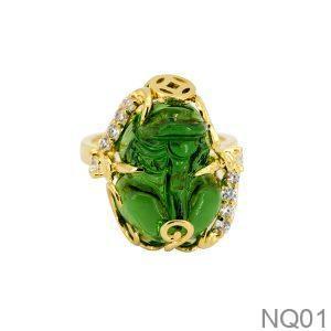 NQ01-2 Nhẫn tỳ hưu nữ vàng 18k