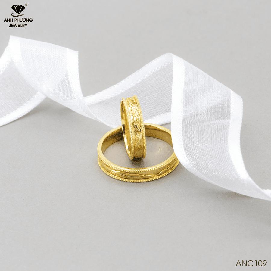 Nhẫn cưới vàng kiểu ANC109
