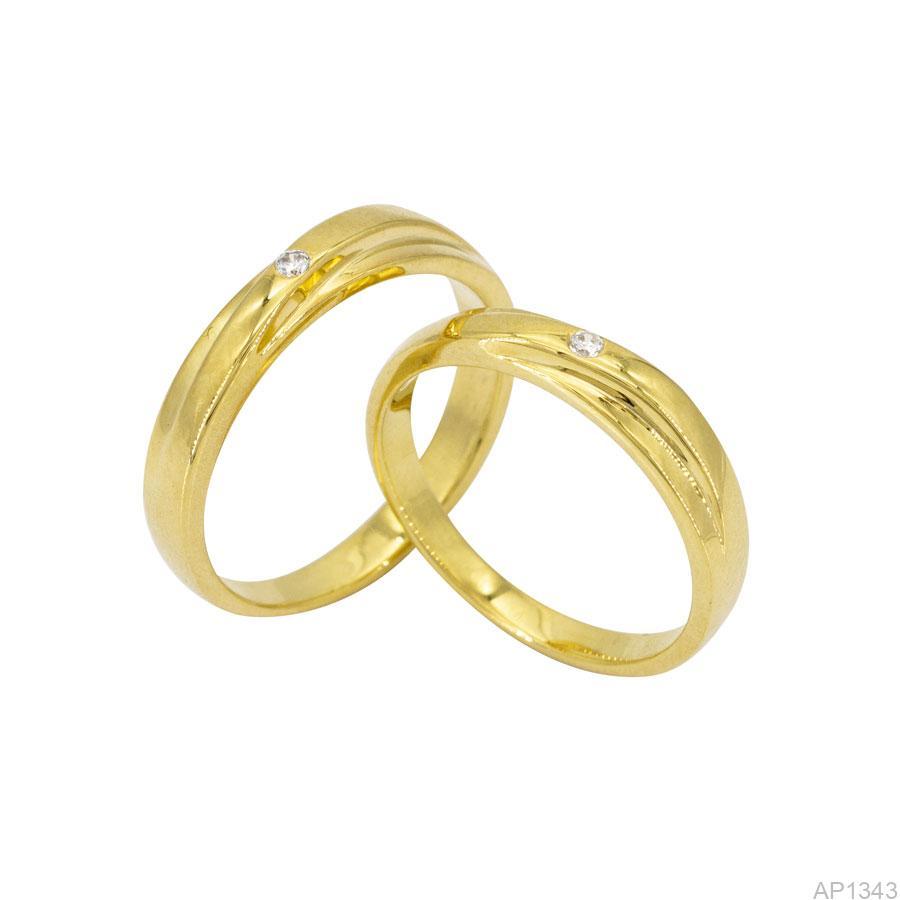 AP1343-1 Nhẫn cưới vàng vàng 18k APJ