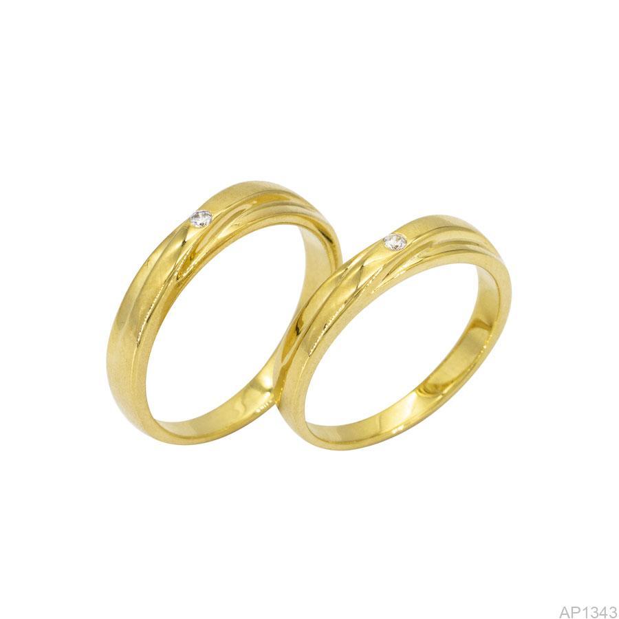 AP1343 Nhẫn cưới vàng vàng 18k APJ
