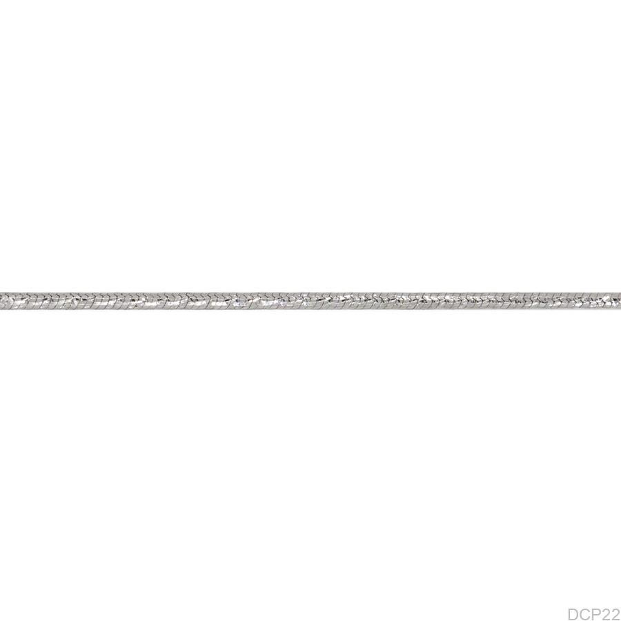 DCP22-1 Dây chuyền nữ vàng trắng 10k trơn