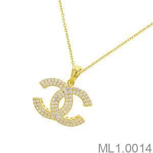 Mặt Nữ Vàng 18K Đính Đá CZ - ML1.0014
