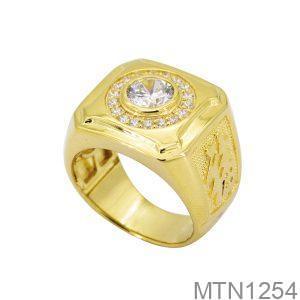 MTN1254 -1 Nhẫn nam vàng vàng đẹp cao cấp 10k