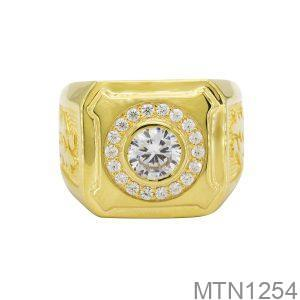 MTN1254 -2 Nhẫn nam vàng vàng đẹp cao cấp 10k