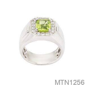 MTN1256 Nhẫn nam vàng trắng 10k