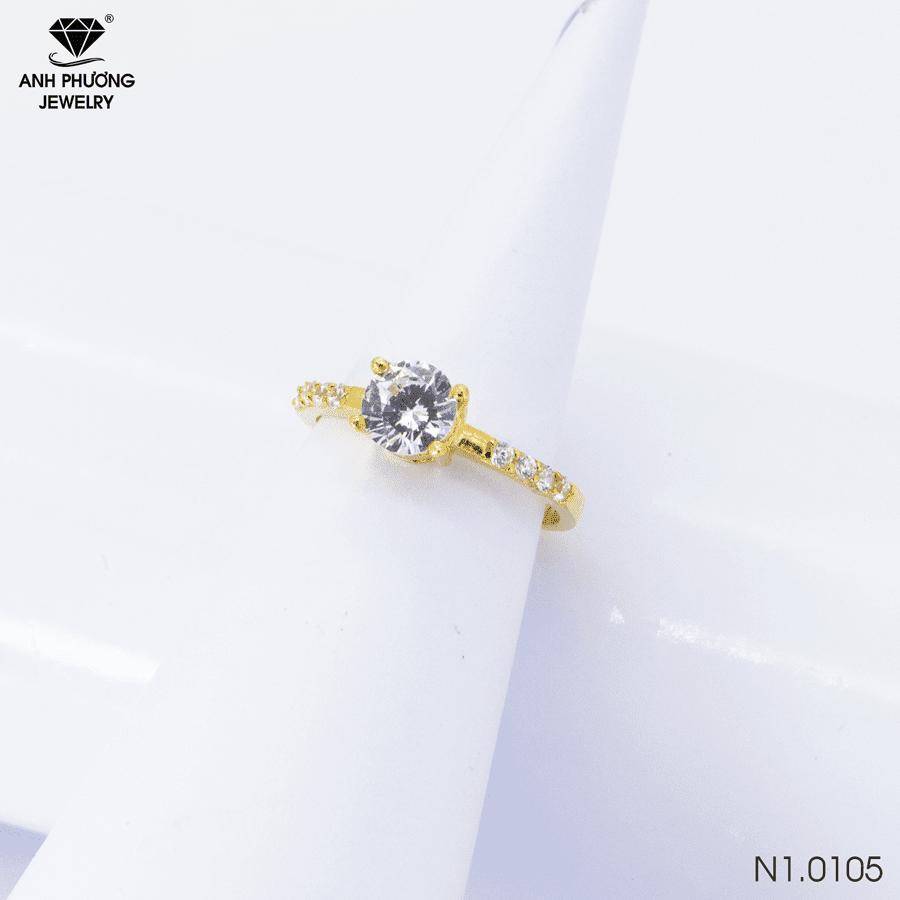 N1.0105 Nhẫn đính hôn vàng 18k