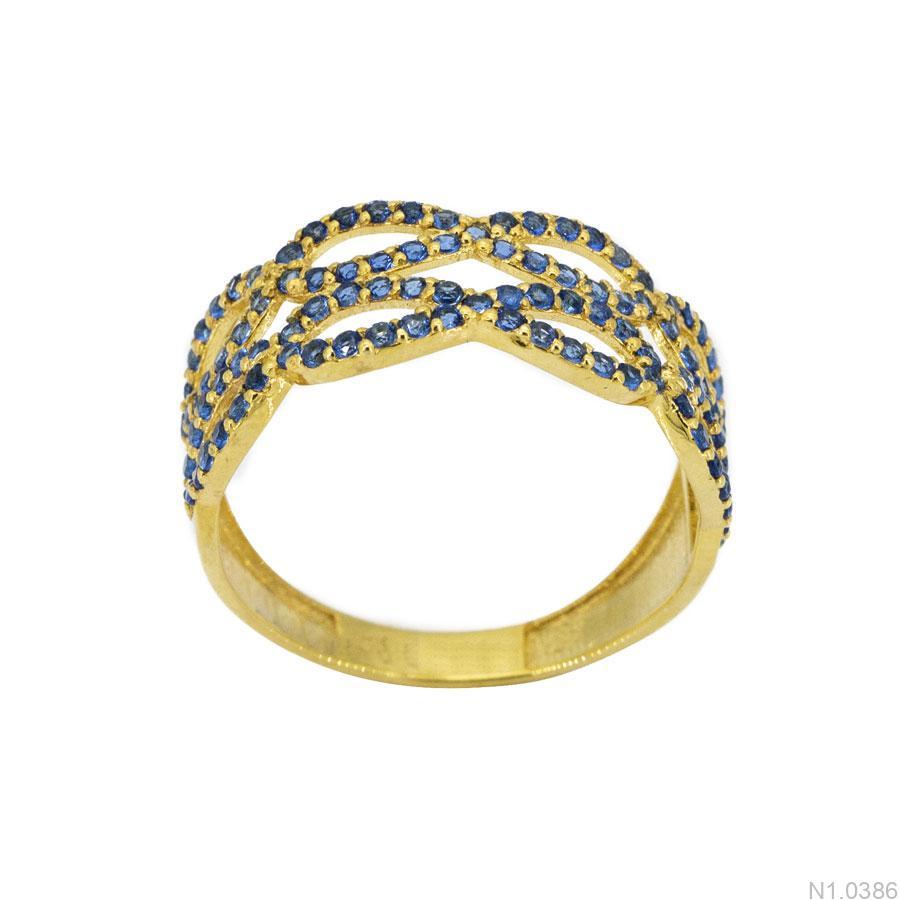 Nhẫn Nữ Vàng 18K Đính Đá CZ - N1.0386