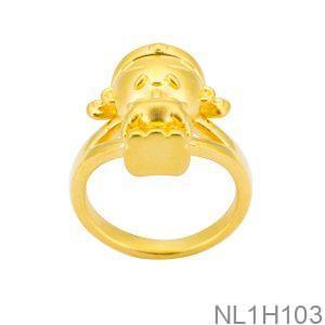 Nhẫn Thần Tài Vàng 24K - NL1H103