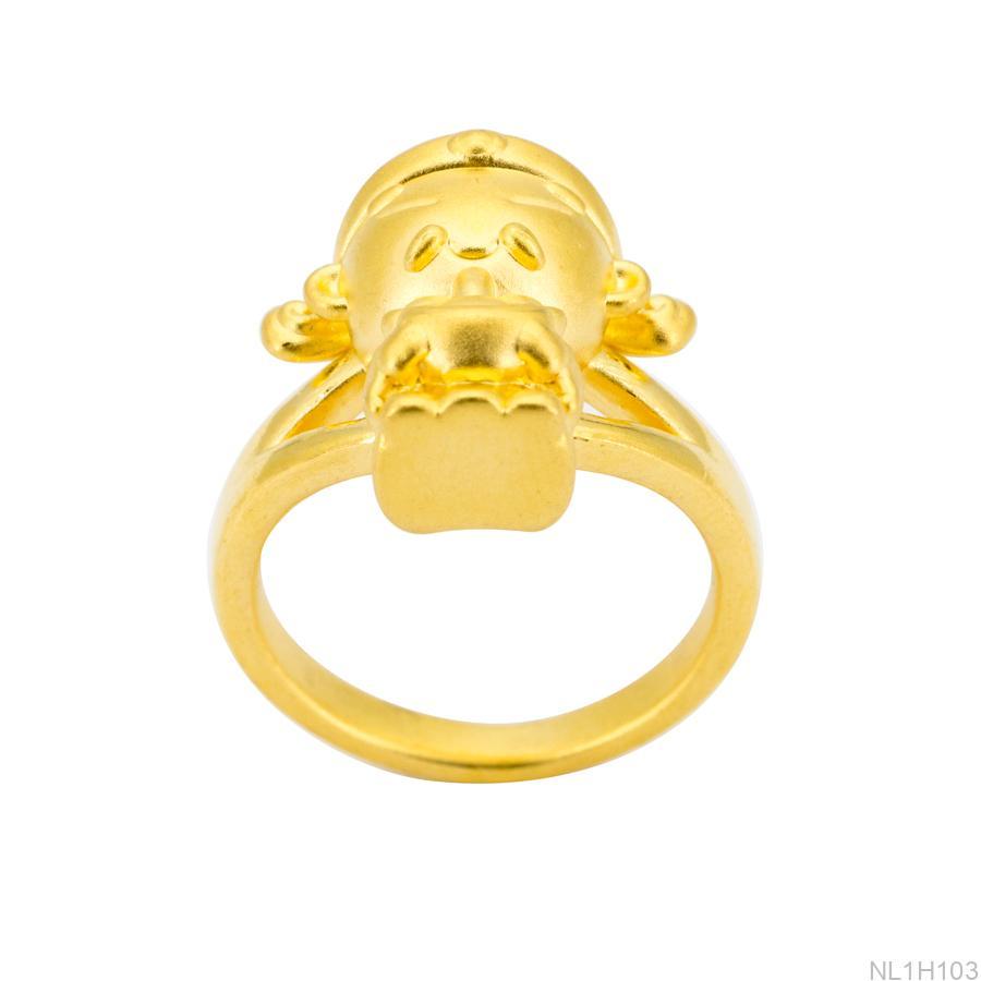 NL1H103 Nhẫn nữ thần tài vàng 24k