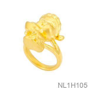 NL1H105-1 Nhẫn thần tài nữ vàng 24k