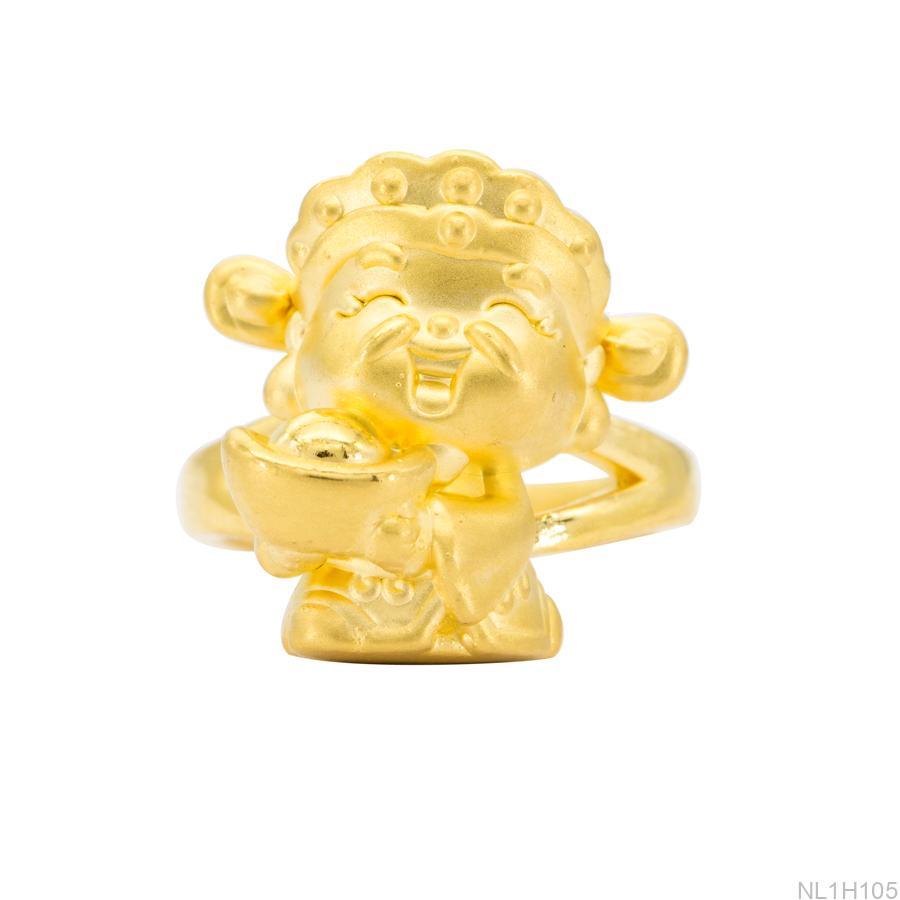 NL1H105-2 Nhẫn thần tài nữ vàng 24k