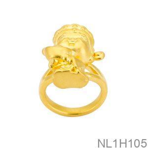 Nhẫn Thần Tài Vàng 24K - NL1H105