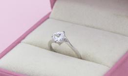 NLF56 Nhẫn đính hôn vàng trắng 18k