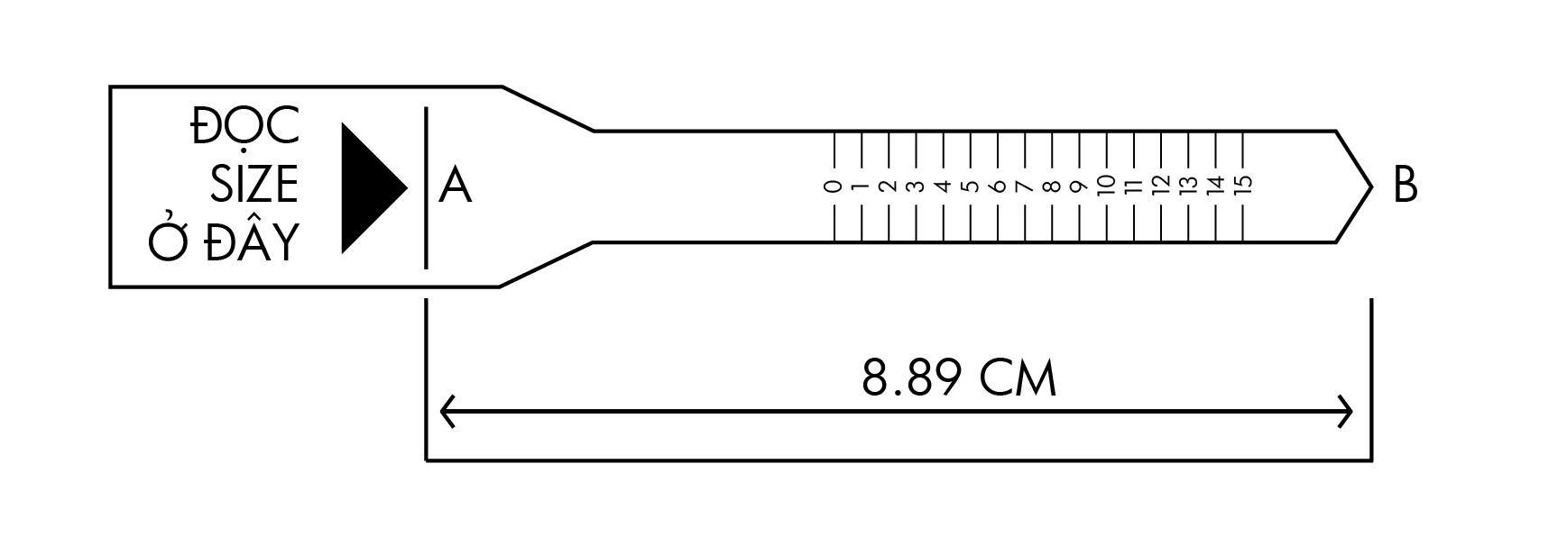 Đo size nhẫn với giấy đo