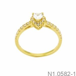 Nhẫn Nữ Vàng 18K Đính Đá CZ - N1.0582-1