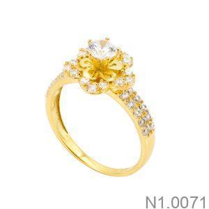 Nhẫn Nữ Vàng 18k Đính Đá Cz – N1.0071