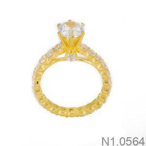 Nhẫn Nữ Vàng 18k Đính Đá Cz – N1.0564