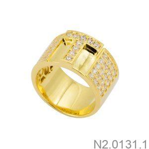 Nhẫn Nam Chữ T Vàng Vàng 18K – N2.0131.1