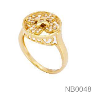 Nhẫn Nữ Vàng 18K Đính Đá CZ - NB0048