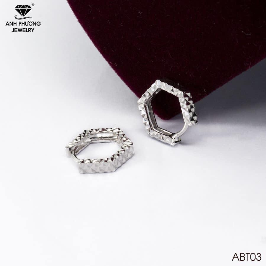 ABT03 - Bông tai nữ vàng trắng
