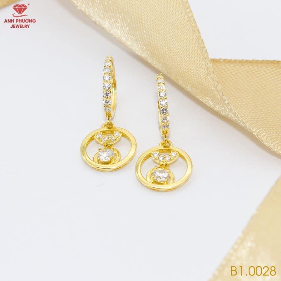 B1.0028 - Bông tai nữ vàng vàng 18k